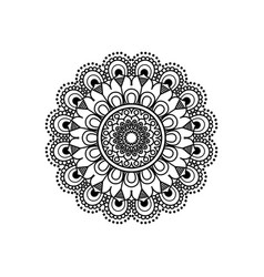 Monochromatic flower mandala vintage decorative vector