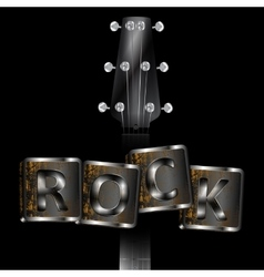 neck of the guitar words rock vector image
