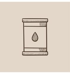 Oil barrel sketch icon vector