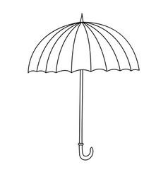 Outline cute cartoon umbrella vector