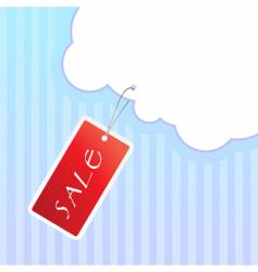 sale tag on string vector image vector image