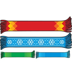 Scarf Icon Set vector image vector image