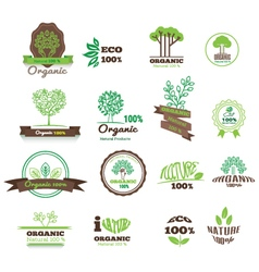 Set of logos stamps badges labels for natural vector image