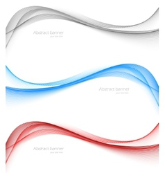 Set of soft wavy banners vector image
