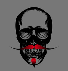Skull with red beard vector