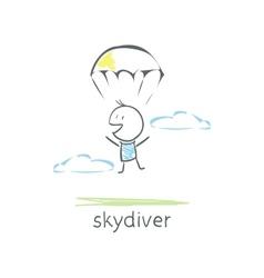 Skydiver vector