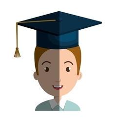 Student character with hat graduation vector