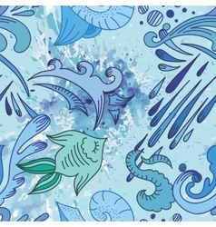 Water sketch pattern vector