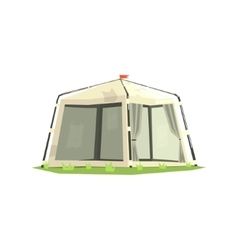 White Sportive Camping Tent vector image