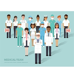 Medical and hospital staffs vector image