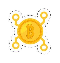 money bitcoin golden digital vector image