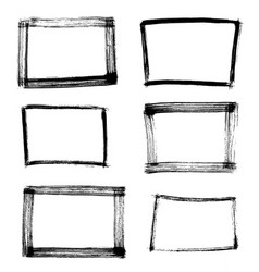 Frame hand drawn set isolated on white background vector