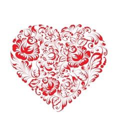 Heart of flowers gzhel vector image