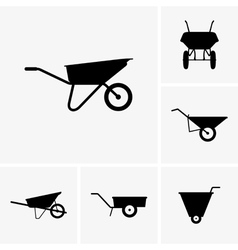 Wheelbarrow cart vector