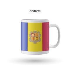 Andorra flag souvenir mug on white background vector