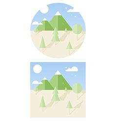 hipster landscape flat style vector image