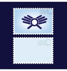 Post stamps vector