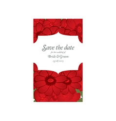 Save the date wedding invitation card template vector