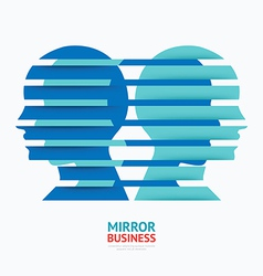Business design mirror concept graphic vector