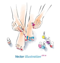 Home pedicure vector