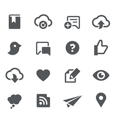 Social sharing icons - apps interface vector
