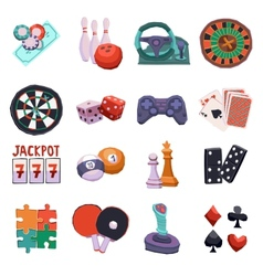 Game icons set vector