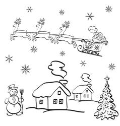 Holiday christmas cartoon vector