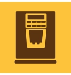 The coffee machine icon espresso and latte symbol vector