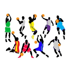basketball players vs vector image