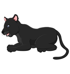 Cartoon black panther vector