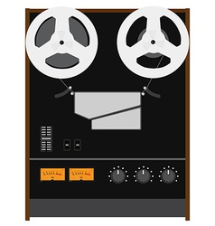 Reel to reel tape recorder vector