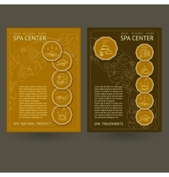 Template spa center card vector