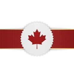 Canada paper banner with red ribbon vector