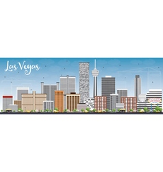 Las Vegas Skyline with Gray Buildings vector image