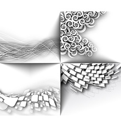 Abstract 3D Geometrical Mosaic Design vector image vector image