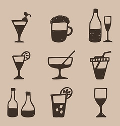 Alcohol an icon2 vector image