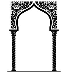 Arch in the arabic style vector