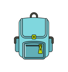 bagpack cartoon icon isolated on a white vector image