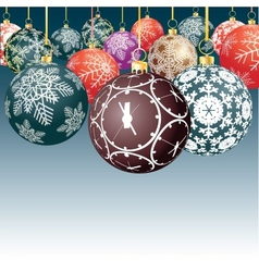 Balls for a decoration Christmas vector image