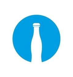 Bottle white pictogram color circle blue vector