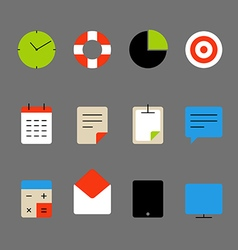Different color thin web icons set lineart design vector