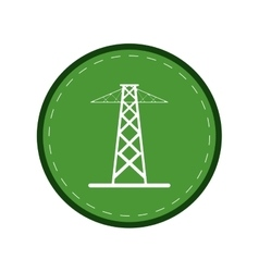 Electrical tower transmission energy power green vector