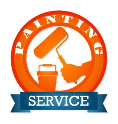 Emblem for painting vector image