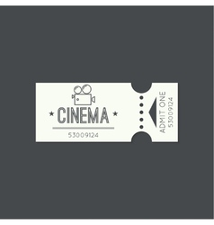 Entry ticket to old vintage style vector image
