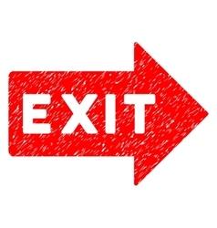 Exit arrow grainy texture icon vector