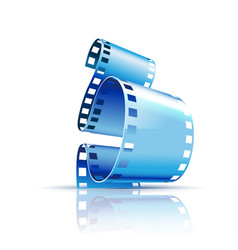 film on white background vector image vector image