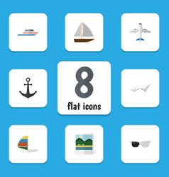 Flat icon season set of aircraft reminders vector