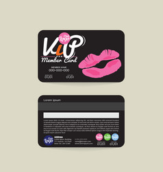 Front and back vip beauty member card template vector