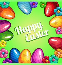 greeting card with easter vector image vector image