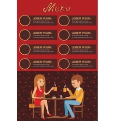 Guy and girl are sitting in a cafe vector image vector image